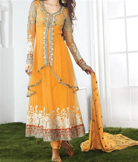 dress design in net mehndi mayon yellow dress frock stylish designs 2015 indian