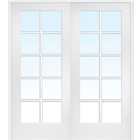 double doors interior home depot milliken millwork 62 in x 81 75 in classic clear glass