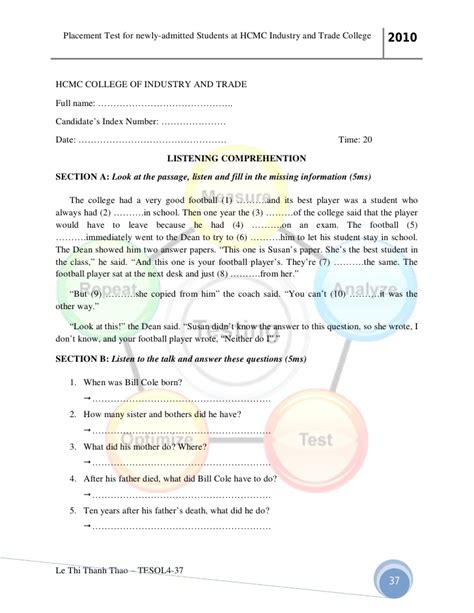 College Placement Test Essay by Placement Test Essay Sle Reportthenews603 Web Fc2