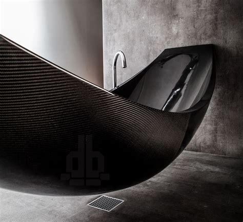fiber bathtub a hammock shaped carbon fibre bathtub by splinter works