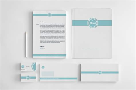 stationery templates mosai corporate identity stationery templates on