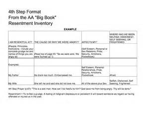aa 4th step template 13 best images of free printable sign language worksheets