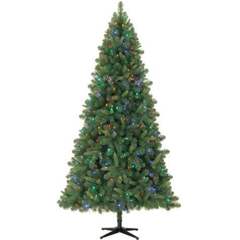 celebrate it artifical trees 7 5 ft pre lit kensington duel led tree by celebrate it pre lit kensington pine tree