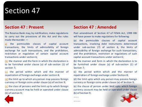 Presentation On Amendments In Budget 2015 In Fema