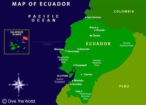 map of equador map of ecuador quito guayaquil galapagos islands dive