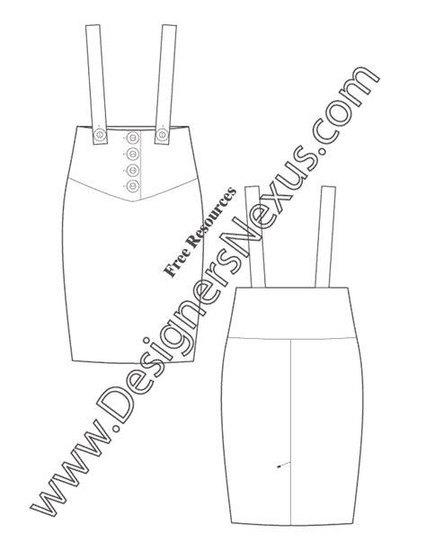 High Waist Suspenders Pencil Skirt Leather Suspender Template