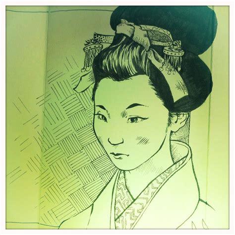 sketchbook japanese sketch of japanese geisha sketches of geishas