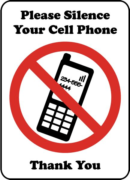 Erokawize Your Cell Phone by Silence Cell Phone Sign By Safetysign F7226