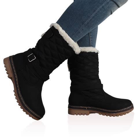 target womens snow boots dd15 womens quilted faux fur grip sole winter snow