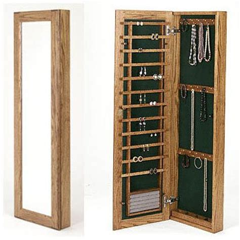 Large Jewelry Cabinet by Large Wall Mounted Jewelry Cabinet Magnetic Lock In