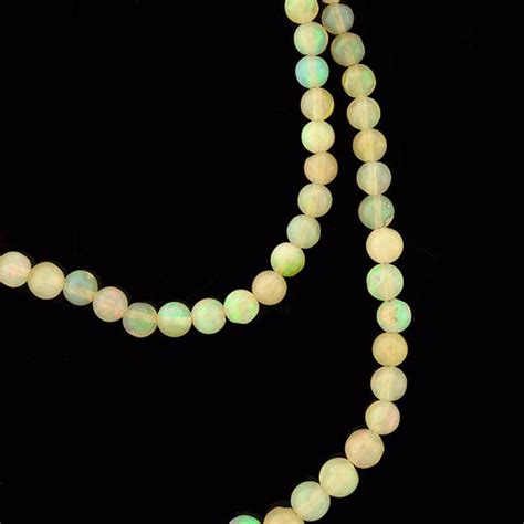 opal bead necklace vintage opal bead necklace 48ctw w 14kt clasp a