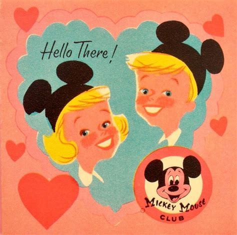 valentines mickey mouse mickey mouse club vintage valentines