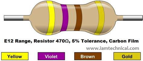470ω resistor color code iamtechnical