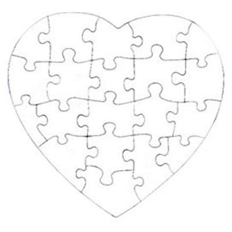 printable jigsaw paper gallery for gt heart puzzle pieces template silhouette