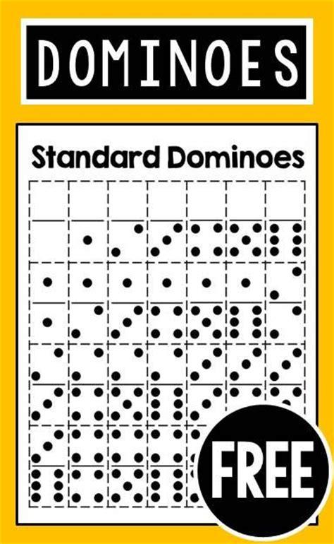 printable domino directions free printable dominoes