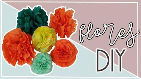 como hacer flores de papel crepe faciles y bonitas youtube como hacer flores de papel crepe faciles y bonitas