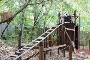 georgia backyard georgia teen builds themed roller coaster in his backyard