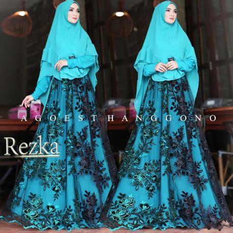 Baju Muslim Bsg 485 Orange gaun gamis cantik rezka by agoest hanggono pusat