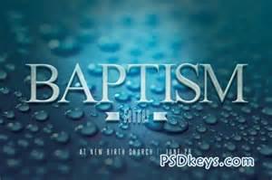 baptism sunday church flyer invite 42909 187 free download