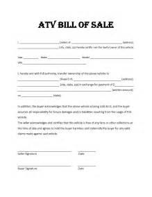 dirt bike bill of sale form