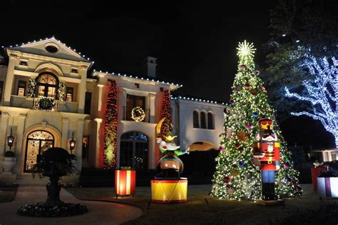 dallas best christmas lights 2018 highland park neighborhood lights