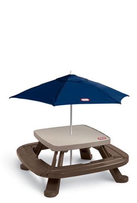Tikes Fold N Store Picnic Table With Market Umbrella by Tikes Fold N Store Picnic Table With Market