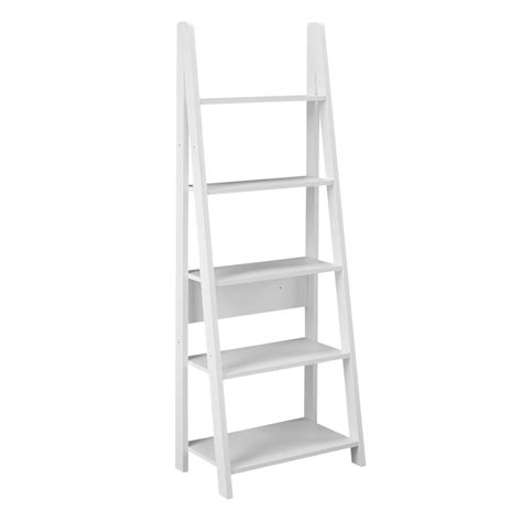 White Ladder Shelf Bookcase Lpd Furniture Tiva White Ladder Bookcase Leader Stores