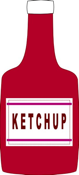 ketchup clipart ketchup bottle clip at clker vector clip