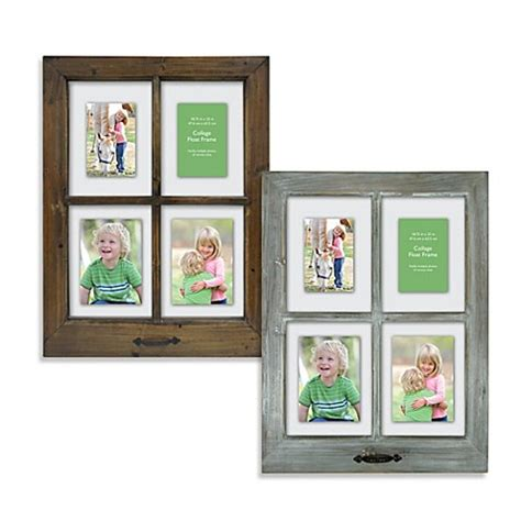 2x3 Photo Collage Frame by 4 Opening Windowpane 18 5 Inch X 25 Inch Collage Frame