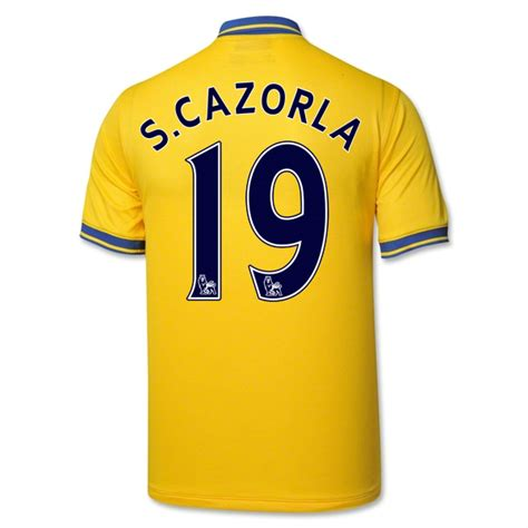 arsenal yellow jersey 13 14 arsenal 19 s cazorla away yellow jersey shirt arsenal