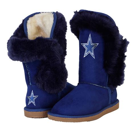 dallas cowboys cuce chions navy fur boot footwear