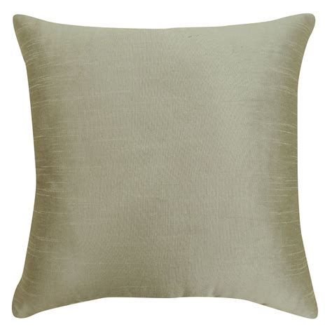 home decor throw pillow white solid pattern dupion silk