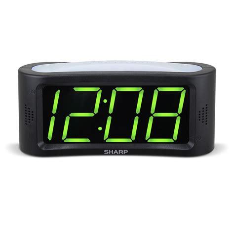 sharp led light alarm clock led alarm clock kmart com