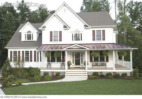 wrap around porch country style house house ideas