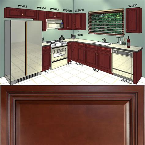 10 by 10 kitchen cabinets all solid wood kitchen cabinets cherryville 10x10 rta ebay