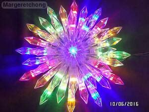 large firework effect christmas tree topper ge 37 led color changing choice starburst tree topper ebay