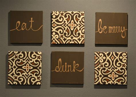 Eat Wall Decor by Eat Drink Be Merry Wall Pack Of 6 Canvas By