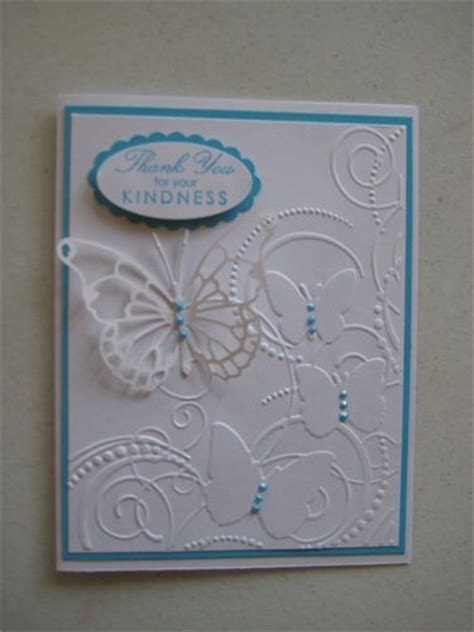 embossing kits card embossing folder thank you cards and butterflies on
