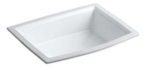 Kohler K 2355 0 Archer Undercounter Bathroom Sink White Induction Cooktops Kohler Archer Undermount Sink Template