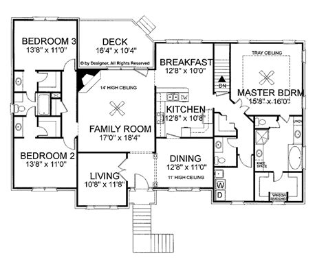 ranch style house plan 5 beds 550 baths 5884 sqft plan 48