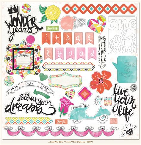 printable paper sticker my minds eye jubilee collection wild berry 12 x 12