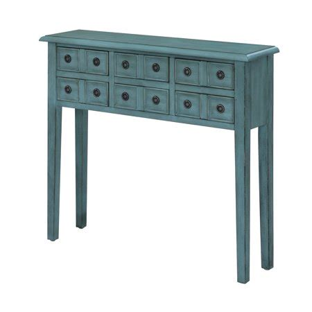 console firenze florence 6 drawer teal console walmart