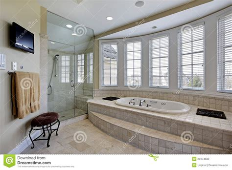 step up bathtub master bath in luxury home stock photo image 29174500