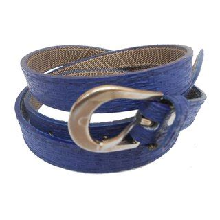 gci casual stylish women/ladies stracture blue belts