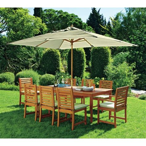 Patio Furniture Argos by Buy Collection 8 Seater Wooden Patio Set Green