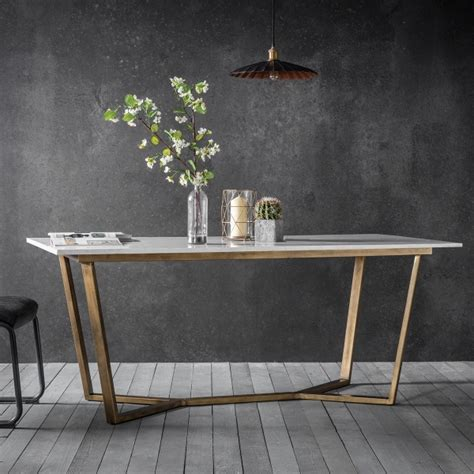 contemporary white dining table gatsby marble dining table white gold modern dining