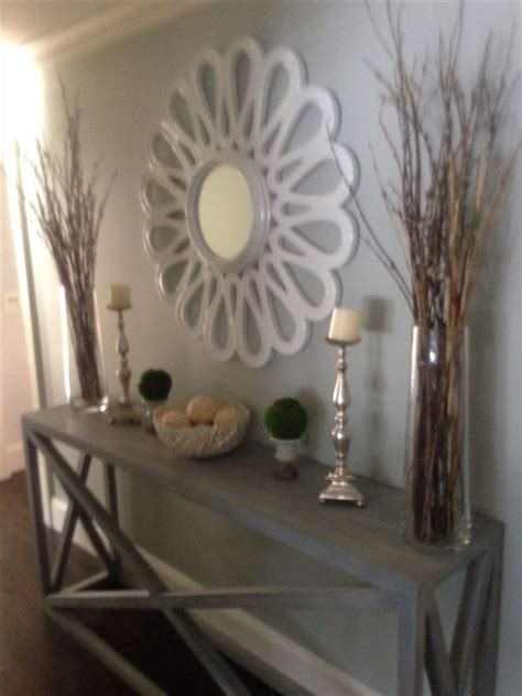 upstairs hallway table with mirrors and plants big long hallway hallways and mirror on pinterest