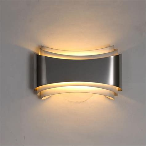 Modern Wall Lights For Bedroom Aliexpress Buy Loft Modern Led Wall Lights For Bedroom Study Room Stainless Steel Acrylic