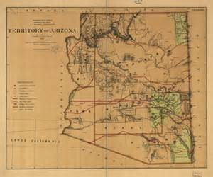 1876 us land office map of arizona early american maps