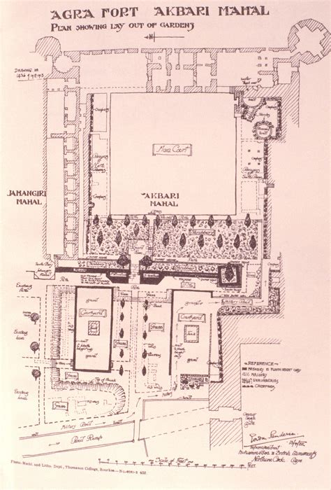 layout plan of red fort agra fort mit libraries